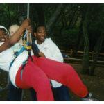 Teens Enjoying the Swing