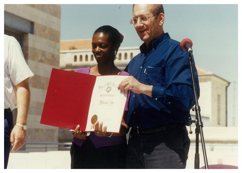 Cookie Lommel Receiving Award