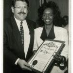 Vintage Image of Cookie Receiving Award